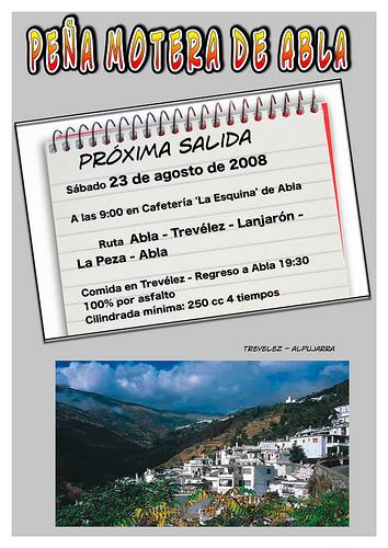 Salida motera 23 de agosto Abla - La Ragua - Trevelez - Lanjarón - La Peza - Abla by you.